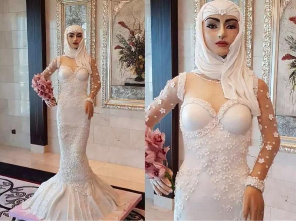 Pengantin Hijab Seksi Jadi Kue Pengantin Termahal di Dunia