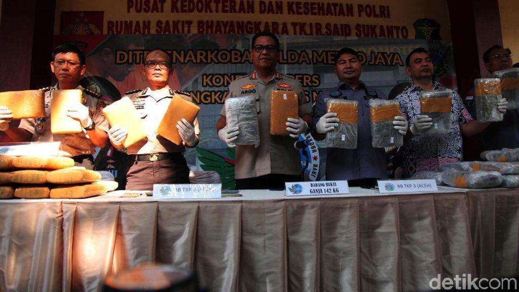 Bongkar Jaringan Aceh-Jakarta, Polisi Sita 310 Kg Ganja
