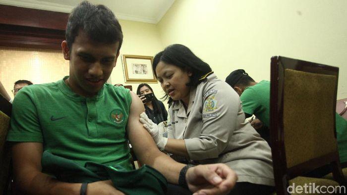 TImnas Indonesia U-23 jalani vaksinasi polio sebelum tampil di SEA Games 2019 (Foto: Rifkianto Nugroho)