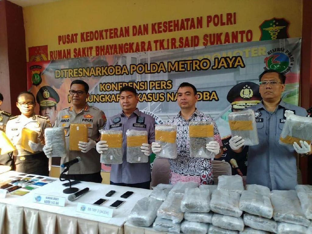 Jaringan Narkoba Pimpinan Eks Kombatan GAM Pakai Jeruk Tutup 310 Kg Ganja
