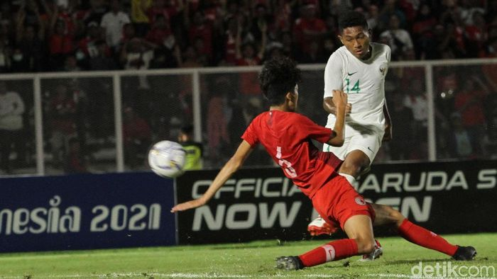 M Fajar Faturrahman tampil subur di kualifikasi Piala Asia U-19 2020. (Foto: Rifkianto Nugroho)