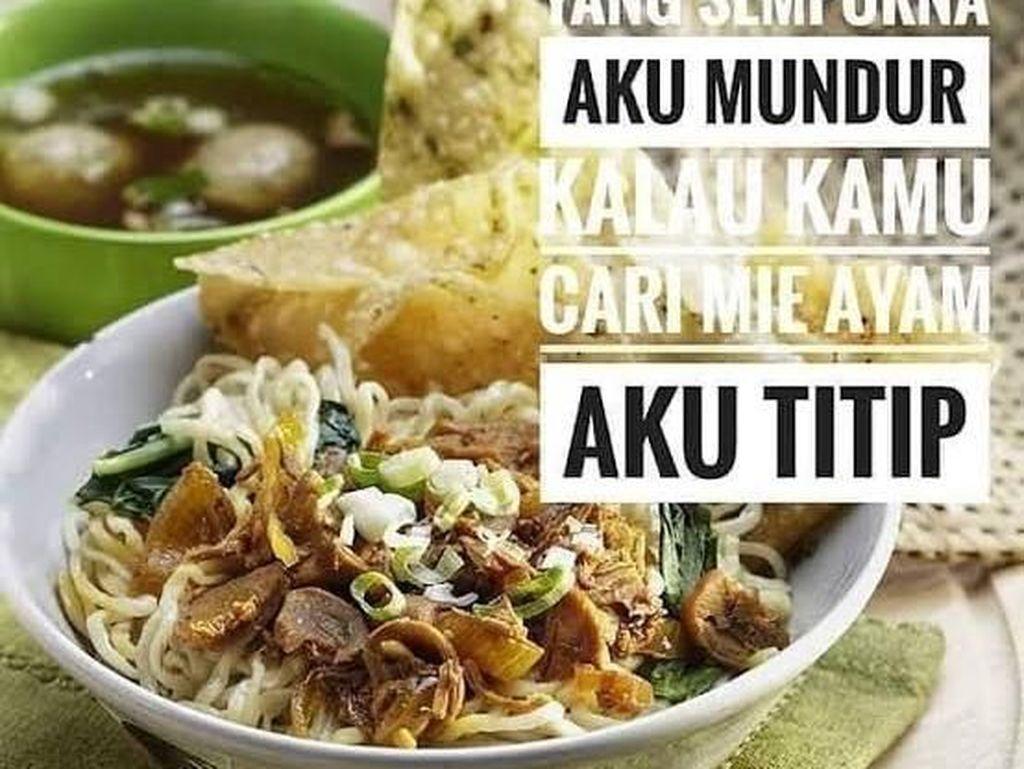 Penggemar Mie Ayam, Yuk Intip Dulu Meme Makanan Favoritmu!