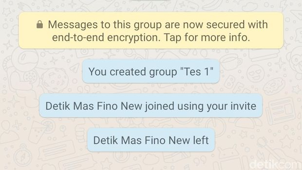 left group chat.