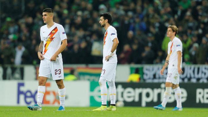 AS Roma kalah 1-2 di markas Borussia Moenchengladbach di lanjutan Liga Europa (Foto: Leon Kuegeler/Reuters)