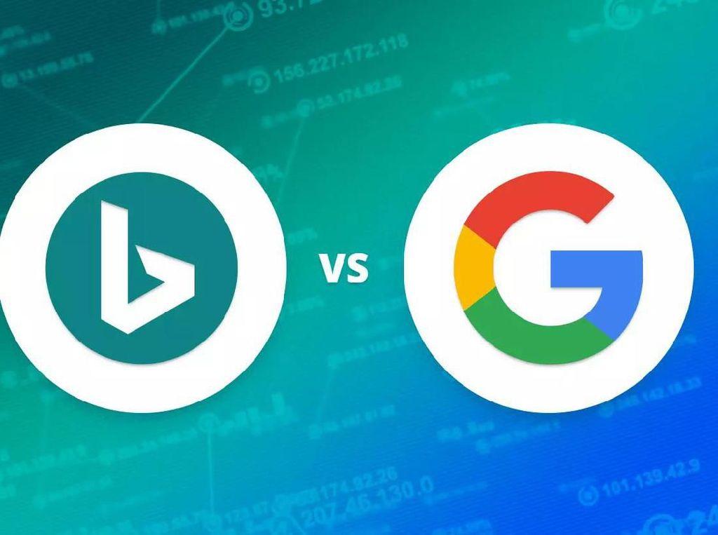 Meme Kocak Perbandingan Hasil Pencarian Google vs Bing