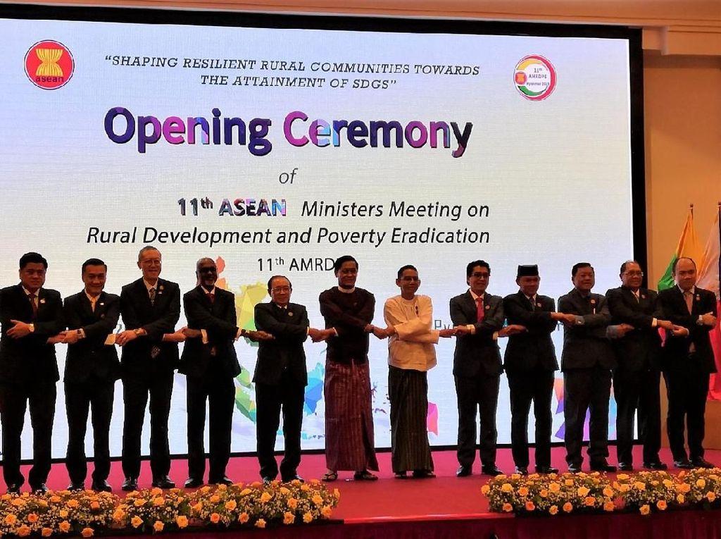 Para Menteri Se-ASEAN Kumpul Bahas Kemiskinan di Myanmar