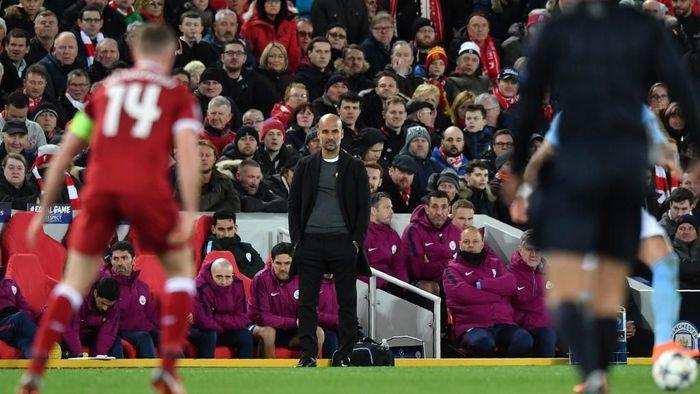 Pep Guardiola mengira sekalipun Man City kalah melawan Liverpool belum tentu akan gagal juara Liga Inggris. (Foto: Anthony Devlin / AFP)