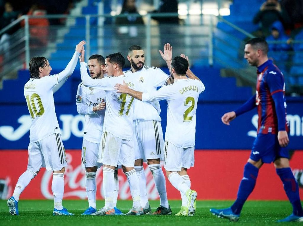 Eibar Vs Real Madrid: Menang 4-0, Los Blancos ke Puncak Klasemen
