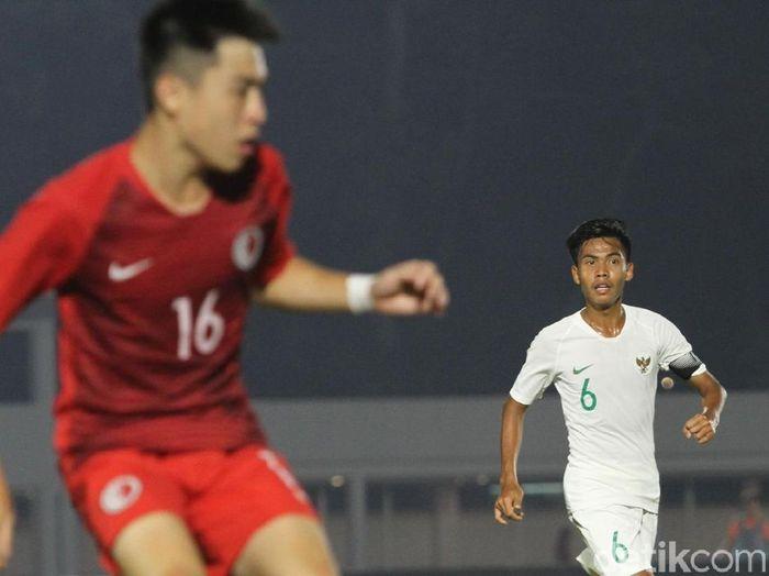 Kapten Timnas Indonesia U-19, David Maulana, tak cuma mau hasil imbang melawan Korea Utara, (Foto: Rifkianto Nugroho/Detikcom)