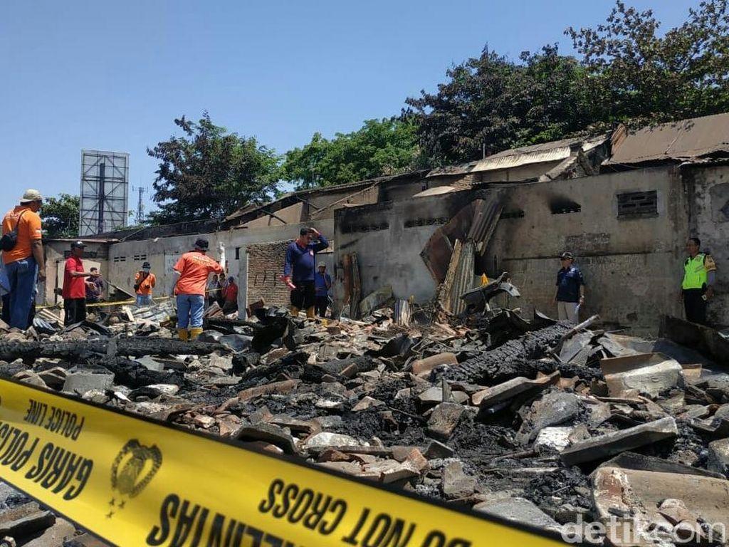 Labfor Selidiki Penyebab Kebakaran Pasar Ngunut Tulungagung