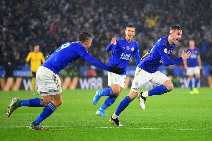 Laga Leicester vs Arsenal di King Power Stadium, Minggu (10/11/2019) dini hari WIB berjalan ketat sejak kick-off. Tapi tak satupun tim berhasil mencetak gol sepanjang babak pertama.