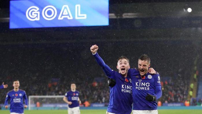 Leicester City menjadi kuda hitam di Liga Inggris 2019/2020. (Foto: Carl Recine/Action Images via Reuters)