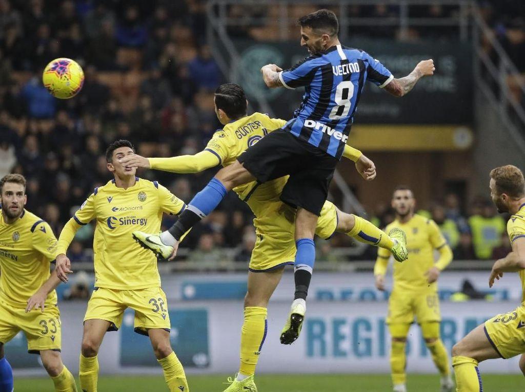 Inter Vs Verona: Comeback, Nerazzuri Menang dan Puncaki Serie A