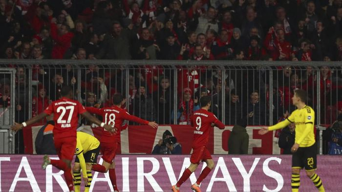 Bayern Munich kalahkan Borussia Dortmund 4-0 (AP Photo/Matthias Schrader)