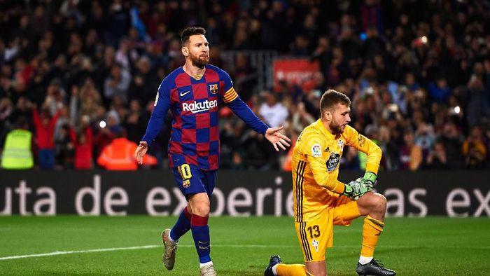 Barcelona menang 4-1 atas Celta Vigo berkat hat-trick Lionel Messi. (Foto: Alex Caparros/Getty Images)