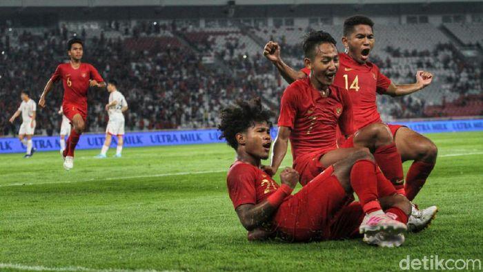 Timnas Indonesia memuncaki klasemen akhir Gruk K Kualifikasi Piala Asia U-19 2020. (Foto: Rifkianto Nugroho/Detikcom)