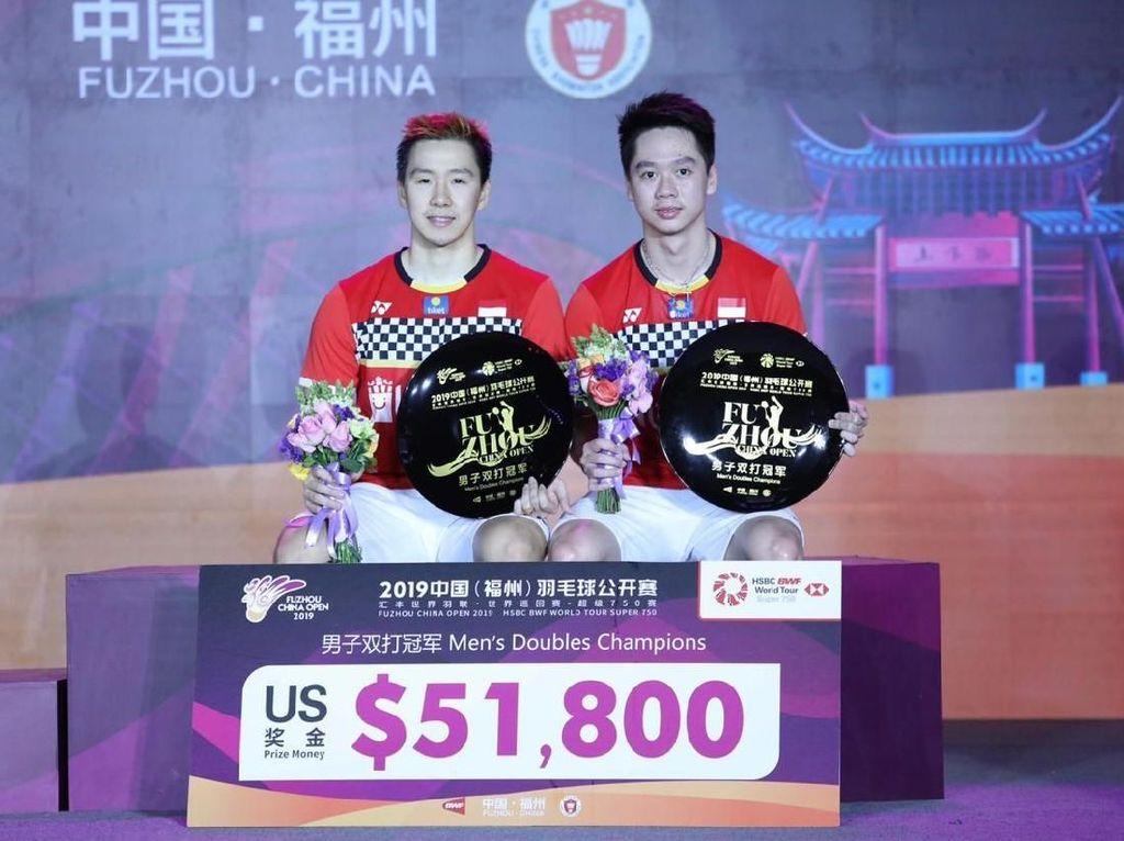Kevin/Marcus Beberkan Kunci Juara Fuzhou China Open