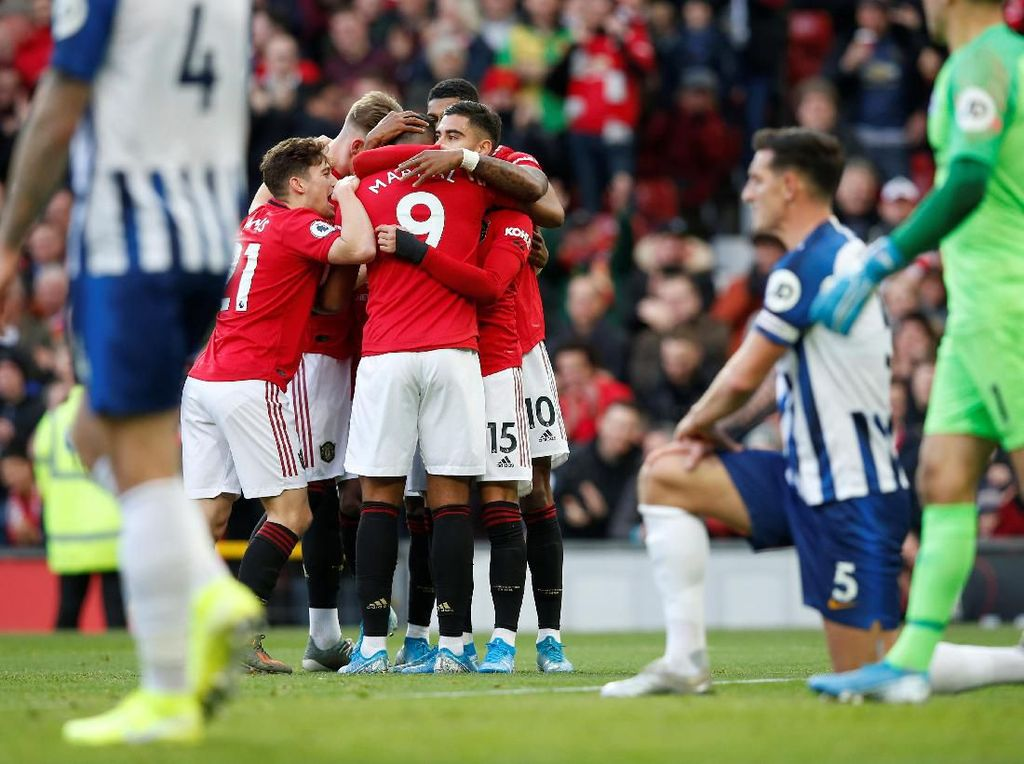 MU Vs Brighton: Setan Merah Menang 3-1