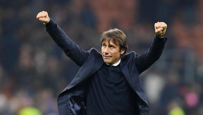Antonio Conte puas dengan respons Inter Milan saat menang atas Verona di lanjutan Liga Italia. (Foto: Daniele Mascolo/detikcom)