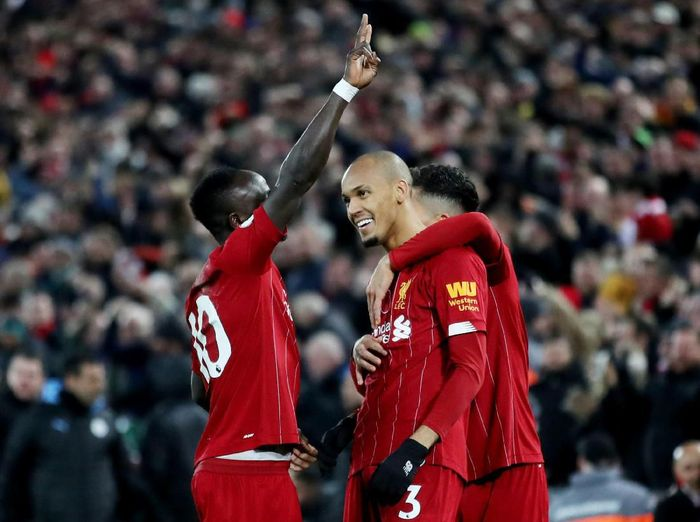 Gelandang Liverpool, Fabinho, disebut menjadi salah satu kunci kemenangan atas Manchester City. (Foto: Carl Recine/Action Images via Reuters)