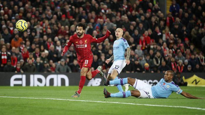 Liverpool unggul 2-0 atas Manchester City di babak pertama (Foto: Carl Recine/Action Images via Reuters)
