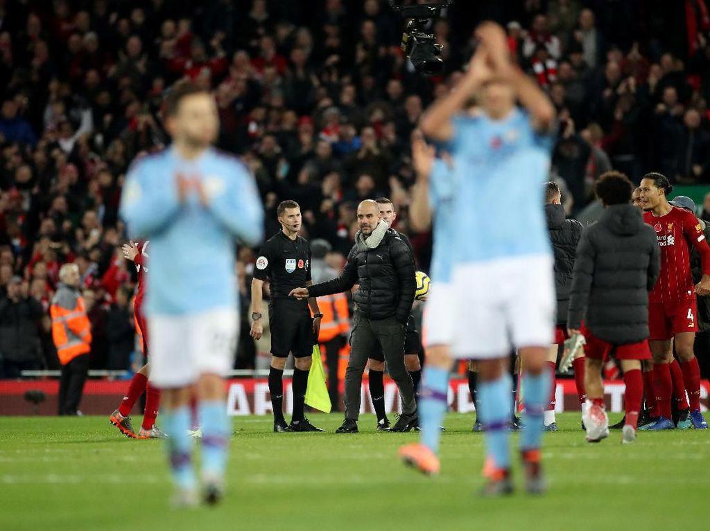 Usai Tumbang di Anfield, Bagaimana Peluang Juara Man City, Pep?