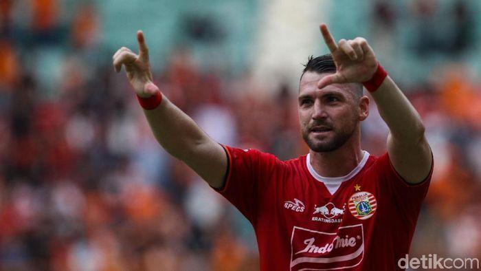 Marko Simic sudah biasa mencetak empat gol untuk Persija Jakarta. (Foto: Rifkianto Nugroho/detikcom)