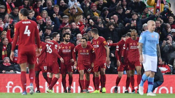 Liverpool  menang 3-1 atas Manchester City dalam lanjutan Liga Inggris (Foto: Laurence Griffiths/Getty Images)