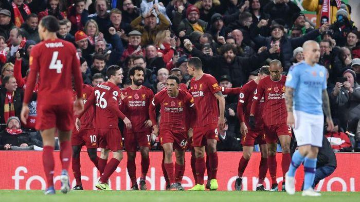 Liverpool memimpin klasemen sementara Liga Inggris dengan keunggulan delapan poin. (Foto: Laurence Griffiths/Getty Images)