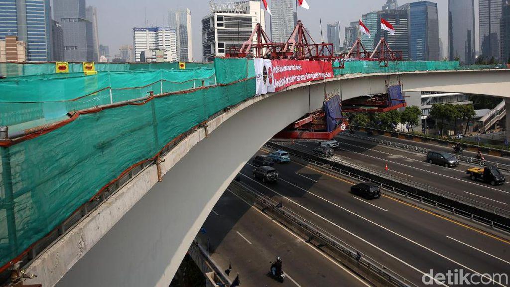 Terpanjang di Dunia, Long Span LRT Jabodebek Selesai Dibangun