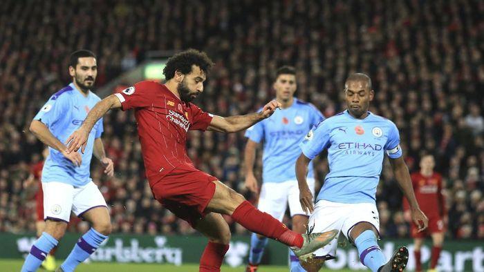 Roberto Mancini yakin Manchester City masih bisa mengejar Liverpool meski saat ini tertinggal 11 poin. (Foto: AP Photo)