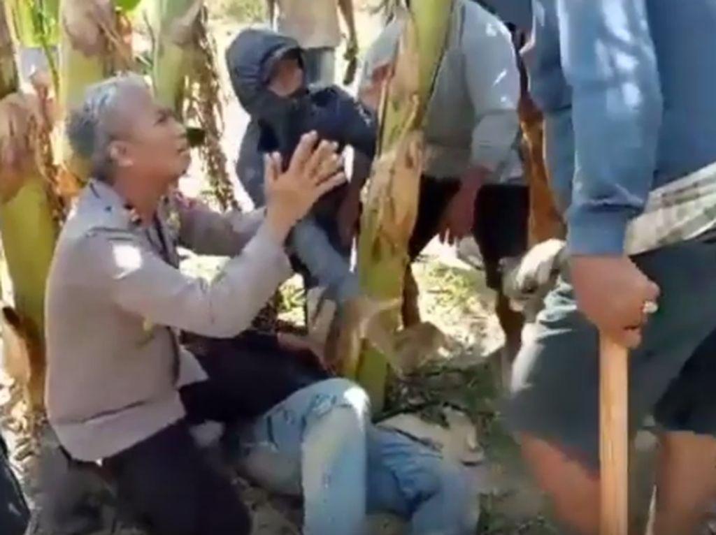 Viral Kapolsek di Pinrang Bersimpuh Minta Warga Tak Aniaya Petambang