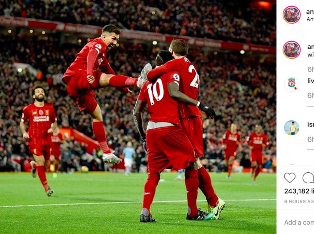 Euforia Pemain Liverpool Rayakan Kemenangan di Instagram