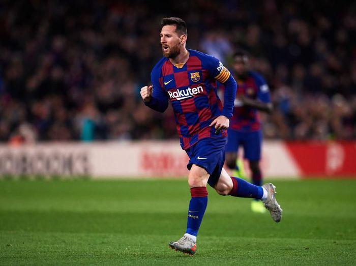 Striker Barcelona Lionel Messi. (Foto: Alex Caparros/Getty Images)