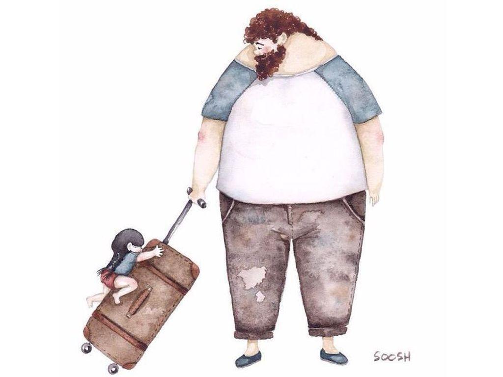 Hari Ayah Nasional, 8 Ilustrasi Cinta Ayah & Anak Perempuannya Ini Menyentuh