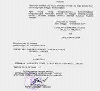 Tarif BBN-KB DKI Jakarta menjadi 12,5 persen. (Foto: Dok. Pemprov DKI)