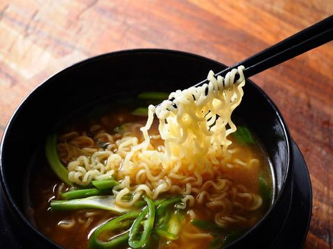 Ramen, Asian Instant  Noodle with Vegetable