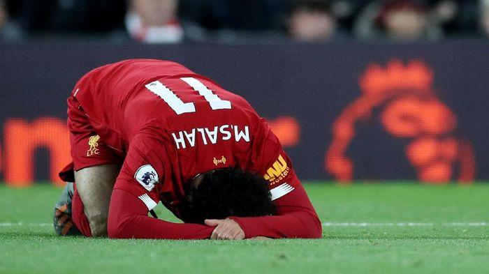 Mohamed Salah belum dipastikan tampil lawan Napoli. (Foto: Reuters/Carl Recine)