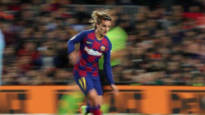 Antoine Griezmann menatap El Clasico pertamanya bersama Barcelona. (Foto: REUTERS/Albert Gea)