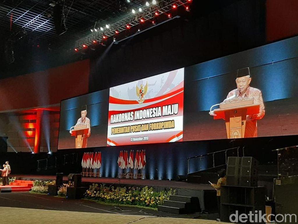 Tutup Rakornas Pemda, Maruf Amin Singgung Angka Kemiskinan RI