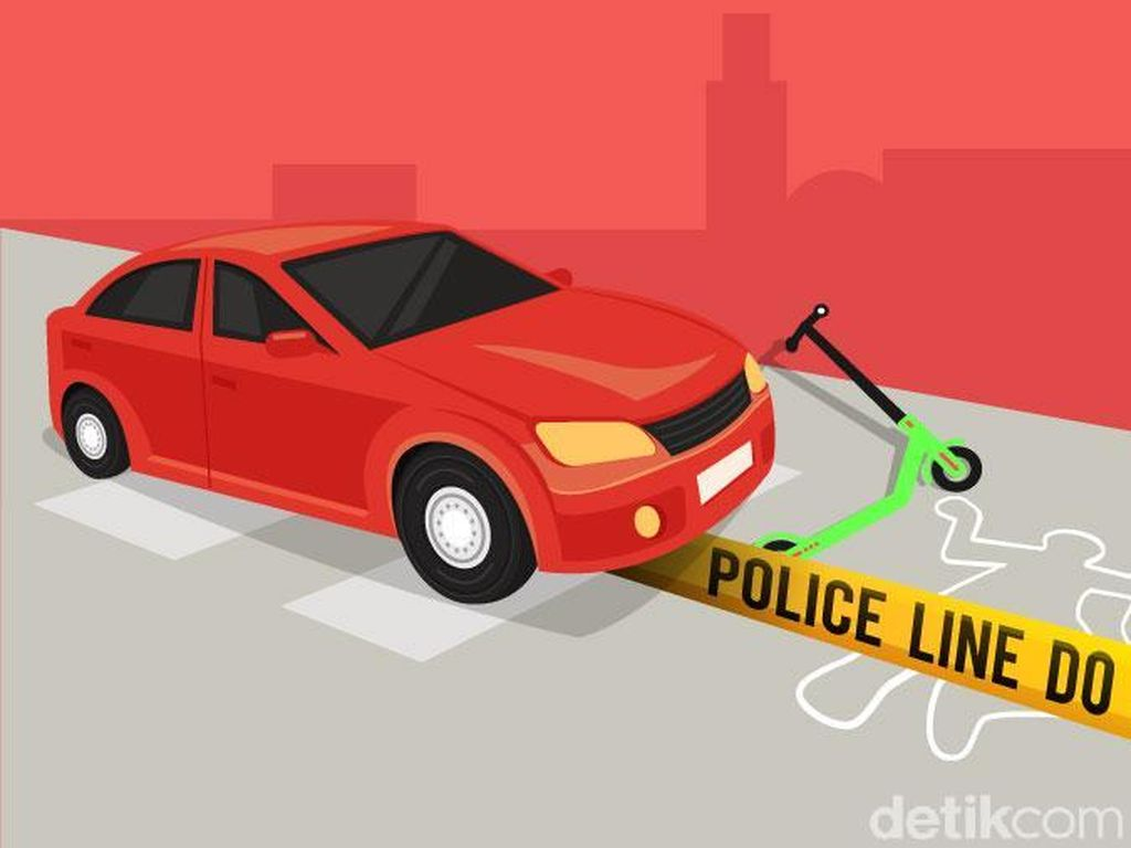 Bantah Polisi, Saksi Sebut Penabrak Grabwheels Tak Turun dari Mobil
