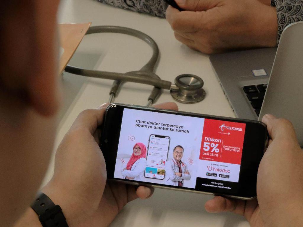 Adopsi Layanan Kesehatan Digital, Telkomsel Gaet Halodoc