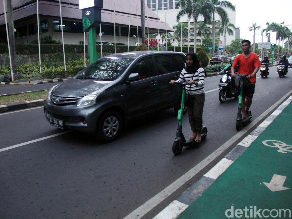 Penindakan Skuter Listrik di Jalur Sepeda Pakai Kesepakatan Polisi-Dishub