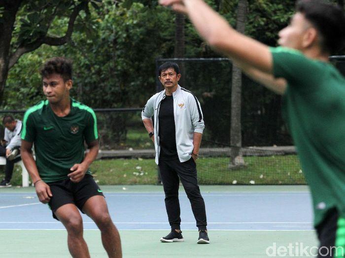 Indra Sjafri menempa mental Timnas Indonesia U-23 menjelang SEA Games 2019. (Foto: Rifkianto Nugroho/detikcom)
