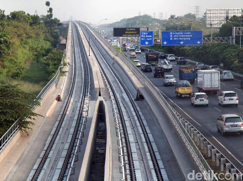 Kejar Target, Pembangunan LRT Jabodebek Terus Dikebut
