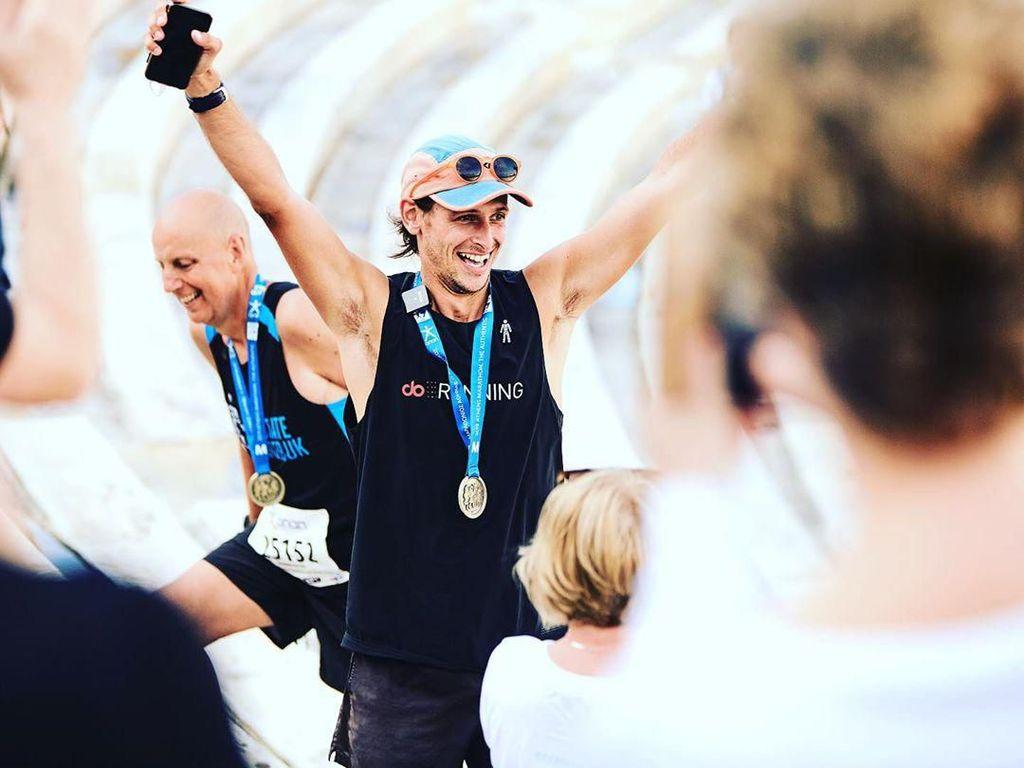 Kisah Pria Ikuti Lomba Maraton di 196 Negara demi Misi Mulia