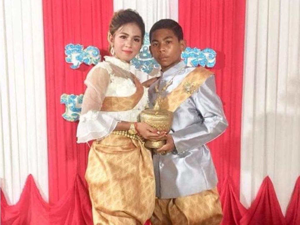 Viral Pria 14 Tahun Nikahi Wanita 21 Tahun Bikin Netizen Iri