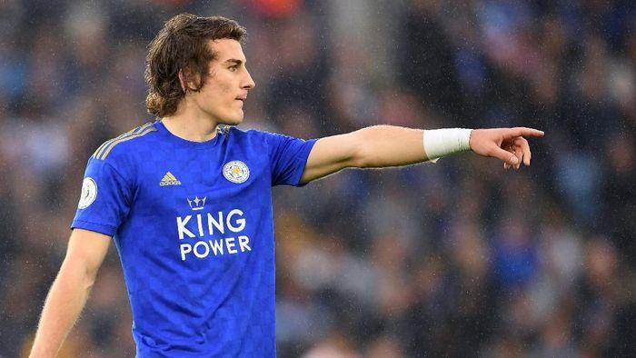 Bek Leicester City Caglar Soyuncu. (Foto: Michael Regan/Getty Images)