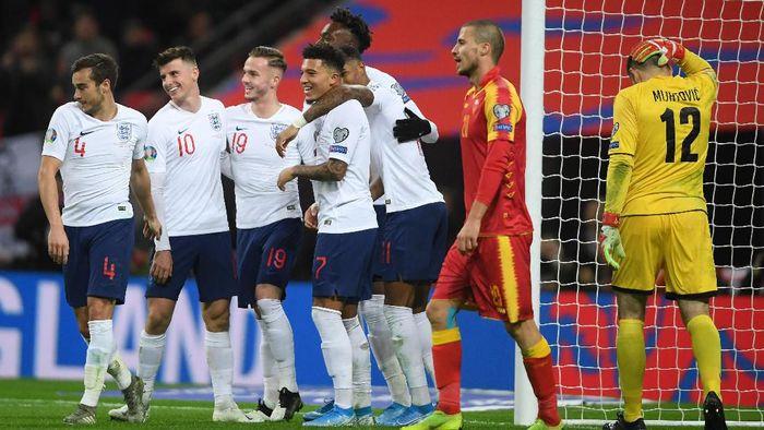 Inggris lolos ke Piala Eropa 2020 usai menang 7-0 atas Montenegro (Foto: Mike Hewitt/Getty Images)