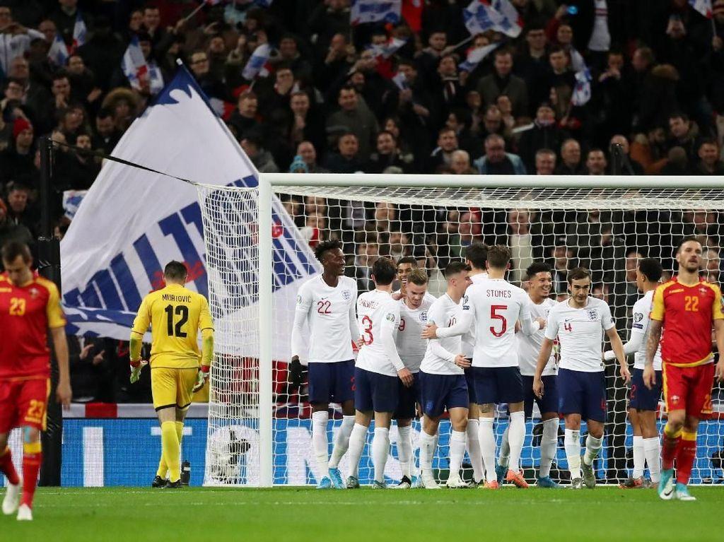 Cukur Montenegro 7-0, Inggris Pastikan Lolos ke Piala Eropa 2020